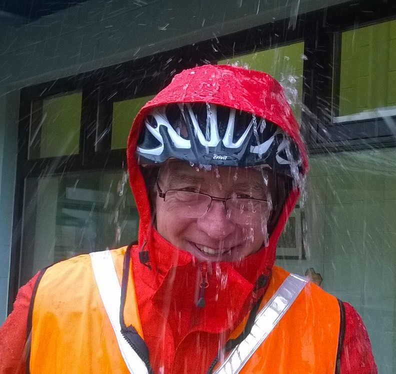 John Trimble system administrator and cycle leader feeling under the weather